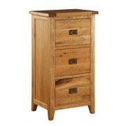 Vancouver Oak VXA010 Three Drawer Filing Cabinet