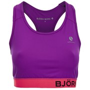 Bjorn Borg Women's Wen Sports Bra Top - Purple Cactus Flower