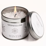Stoneglow Seasonal Collection Snow Topped Candle Tin - Winter