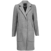 Y.A.S. Women's Monday Coat - Light Grey Melange
