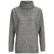 ONLY Women's Pine Loose Pullover Knitted Jumper - Medium Grey Melange