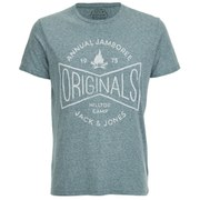 Jack & Jones Men's Willie T-Shirt - Mediterranean
