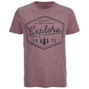 Jack & Jones Men's Willie T-Shirt - Port