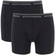 Scotch & Soda Men's Allover Printed Boxer Shorts - Black