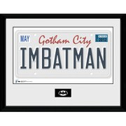 DC Comics Batman License Plate - 16 x 12 Inches Framed Photographic