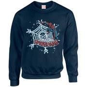 Marvel Kids' Comics Christmas Spider-Man Sweatshirt - Navy