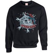 Marvel Comics Christmas Spider-Man Sweatshirt - Black