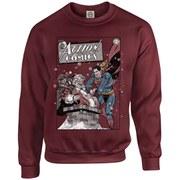 DC Originals Christmas Superman Cover Kids Sweatshirt - Maroon