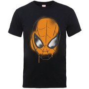 Marvel Men's Ultimate Spider-Man Halloween Graffiti Mask T-Shirt - Black