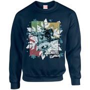 Marvel Comics Christmas Black Widow Captain America Sweatshirt - Navy