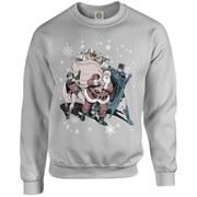 DC Originals Christmas Batman and Robin Santa Claus Kids Sweatshirt - Heather Grey