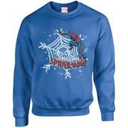 Marvel Comics Christmas Spider-Man Sweatshirt - Royal