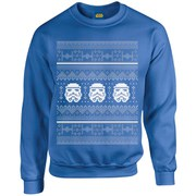 Star Wars Kids' Christmas Stormtrooper Sweatshirt - Royal Blue