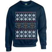 Star Wars Christmas Darth Vader Imperial Starship Sweatshirt - Navy