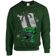 Marvel Kids' Comics Christmas Santa Hulk Sweatshirt - Forest Green