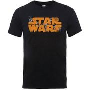 Star Wars Men's Halloween Spider Web Logo T-Shirt - Black