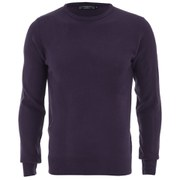 Kensington Eastside Men's Ralph Crew Neck Jumper - Grape