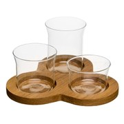 Sagaform Oval Oak 4 Piece Serving Set