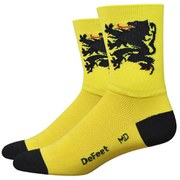 DeFeet Aireator Lion of Flanders Socks - Yellow