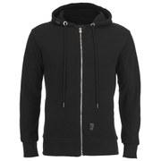 Crosshatch Men's Flaxton Pique Zip Through Hoody - Black