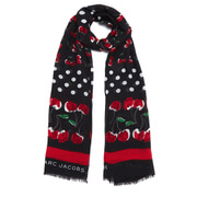 Marc by Marc Jacobs Women's Double Cherry Scarf - Black