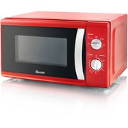 Swan SM40010REDN 800W Solo Microwave - Red