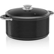 Tower T90912B LINEAR 24cm Ceramic Casserole Dish - Black