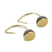 Marc by Marc Jacobs Women's Small Pave Cabochon Hoop Earrings