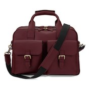 Aspinal of London Men's Harrison Overnight Business Bag - Burgundy