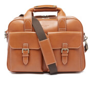 Aspinal of London Men's Harrison Overnight Business Bag - Tan