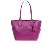 Diane von Furstenberg Women's Voyage BFF Croc Leather Tote Bag - Pink