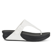 FitFlop Women's Superjelly Toe Post Sandals - Urban White
