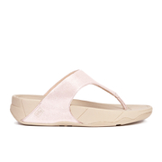 FitFlop Women's Lulu Shimmersuede Toe Post Sandals - Nude