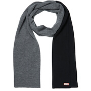 Hunter Women's Original Knitted Moustache Scarf - Slate/Black