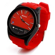 Martian Notifier Smart Watch (Kompatibel mit IOS und Android) - Rot