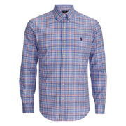 Polo Ralph Lauren Men's Checked Button Down Shirt - Blue/Orange