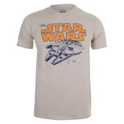 Star Wars Men's Retro Falcon T-Shirt - Sand