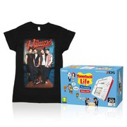 Nintendo 2DS White/Red + Tomodachi Life + The Vamps T-Shirt Pack