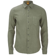 BOSS Orange Men's Enamee Linen Shirt - Khaki