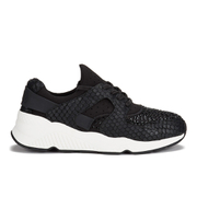Ash Women's Mood Bis Puff/Neoprene Trainers - Black