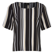 VILA Women's Striva Stripe Top - Black