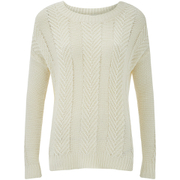 VILA Women's Grow Knitted Jumper - Pristine