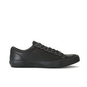 Polo Ralph Lauren Men's Geffrey Canvas/Leather Trainers - Black