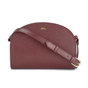 A.P.C. Women's Demi Lune Cross Body Bag - Bordeaux