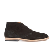 H Shoes by Hudson Men's Houghton 3 Suede Desert Boots - Black