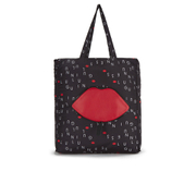 Lulu Guinness Women's Lulu Letters Foldaway Shopper Bag - Black
