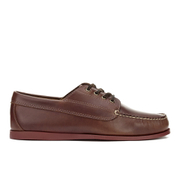 G.H Bass & Co. Men's Camp Moc Jackman Pull Up Leather Boat Shoes - Mid Brown