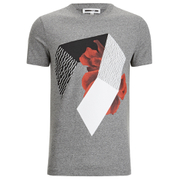 McQ Alexander McQueen Men's Floral Logo Crew T-Shirt - Grey Mouline
