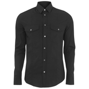 Versace Collection Men's Twin Pocket Shirt - Black