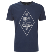 OBEY Clothing Men's Diamond Lotus Slub T-Shirt - Navy
